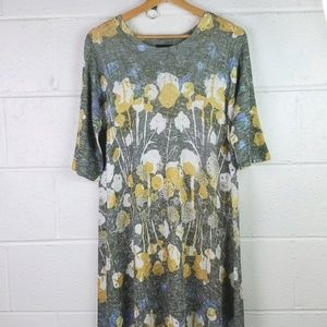 Inoah Women's Floral Dress Made in USA Small
